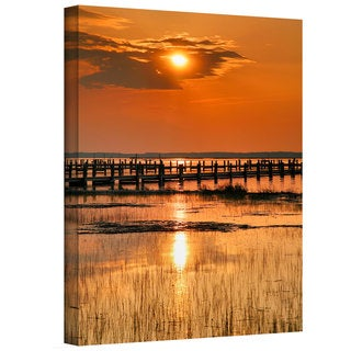 Steven Ainsworth 'Sunset Bay' Gallery-Wrapped Canvas