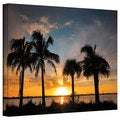 Steven Ainsworth 'Tropical Sunset' Gallery-Wrapped Canvas