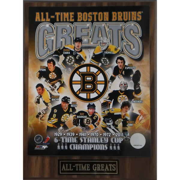Boston Bruins 'All Time Greats' Plaque 11137674