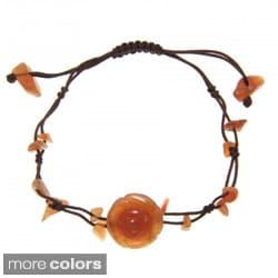 Handmade Jade Rose Chinese Knot Bracelet (China)