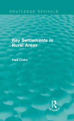 Key Settlements in Rural Areas (Hardcover)