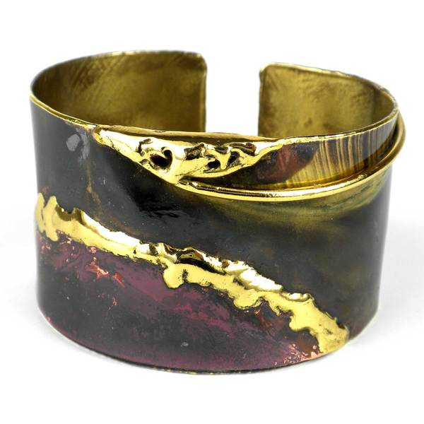 Handcrafted Earths Mantle Copper and Brass Cuff (South Africa)