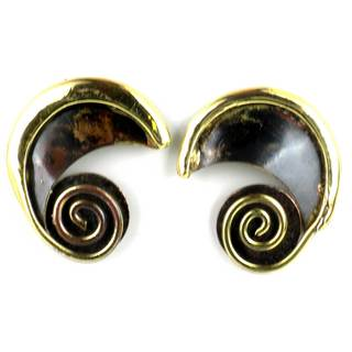 Handcrafted Evolution Brass Post Earrings (South Africa)