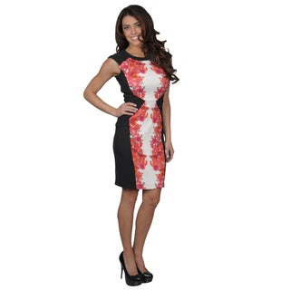 Sangria Women's Floral Print Scoop Neck Shift Dress