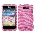 BasAcc Zebra Pink/ Hot Pink Diamante Case for LG MS770 Motion 4G