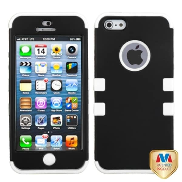BasAcc Black/ White TUFF Hybrid Case for Apple iPhone 5