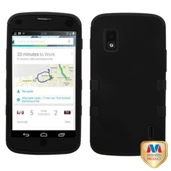 BasAcc Black TUFF Hybrid Case for LG E960 Nexus 4