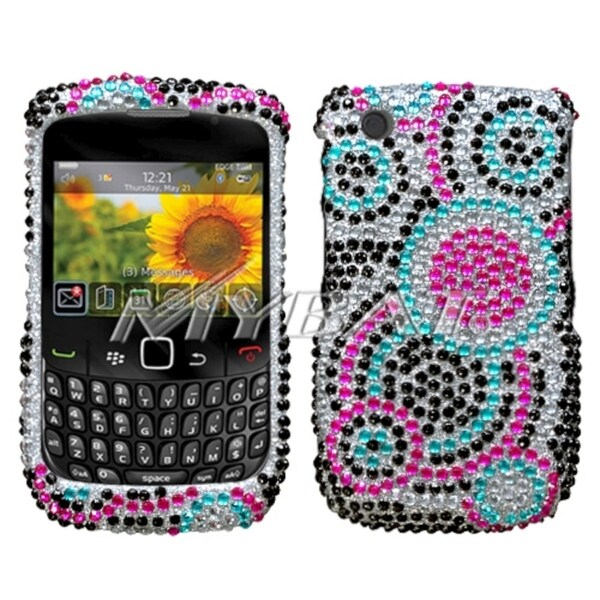 INSTEN Diamond Phone Case Cover for RIM Blackberry Curve 8520/ 8530/ 9300/ 9330 3G