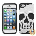 BasAcc Silver/ Black Skullcap Hybrid Case for Apple iPhone 5