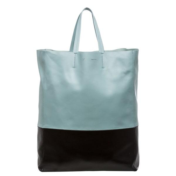 Celine \u0026#39;Bi-Cabas\u0026#39; 2-tone Tote Bag - 15374360 - Overstock.com ...
