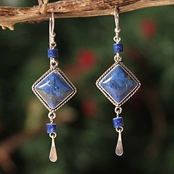Sterling Silver 'Legacy' Lapis Lazuli Earrings (Peru)