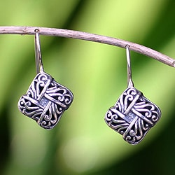 Handcrafted Sterling Silver 'New Bali' Earrings (Indonesia)