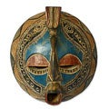 Handcrafted Sese Wood 'Faithful Love' African Mask (Ghana)