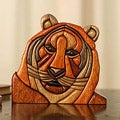 Handcrafted Ishpingo Wood Sculpture 'Young Tiger' Sculpture (Peru)