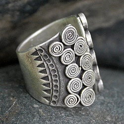 Silver 'The Scroll' Ring (Thailand)