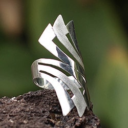 Handcrafted Silver 'Inca Rainbow' Ring (Peru)
