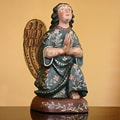Handcrafted Pinewood 'Angel of Hope' Sculpture (Guatemala)