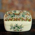 Handcrafted Papier-mache 'Kashmir Butterfly' Jewelry Box (India)