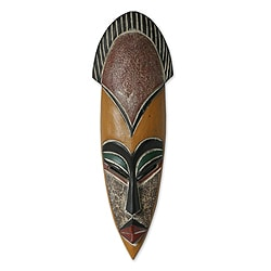 Handcrafted Sese Wood 'Protect the Jungle' African Mask (Ghana)