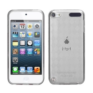 Insten Clear Argyle TPU Rubber Candy Skin Glossy Case Cover For Apple iPod Touch 5th/ 6th Gen