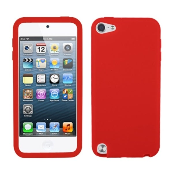 INSTEN Red Solid Skin iPod Case Cover for Apple iPod Touch 5th Generation
