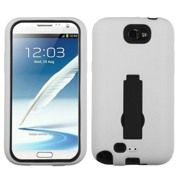 INSTEN White Hybrid Phone Case Cover for Samsung Galaxy Note 2/ II/ N7100