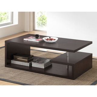 Baxton Studio Lindy Dark Brown Modern Coffee Table