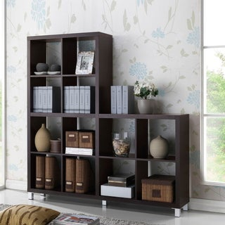 Porch & Den Hanalei Dark Brown Modern Cube Shelving Unit