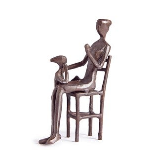 Mother with Child Bronze Sculpture