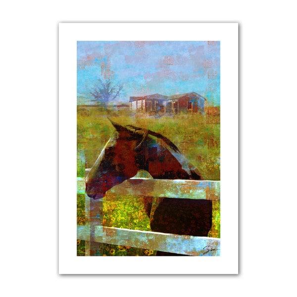 Greg Simanson 'Horse Field' Unwrapped Canvas