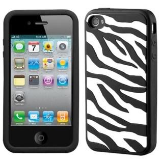 BasAcc Zebra/ Black Pastel Skin Case for Apple iPhone 4/ 4S