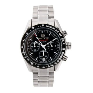 Bilette Men's Stainless Steel Tachymeter Bezel Watch