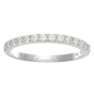 Sunstone Sterling Silver Anniversary Band Ring Made with SWAROVSKI ZIRCONIA