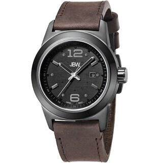 JBW Men's 'Magneto' Brown Strap Diamond-Accented Watch