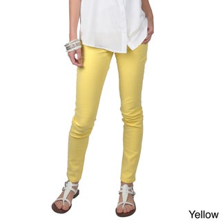 Journee Collection Junior's Cotton/Spandex Stretchy Skinny Pants