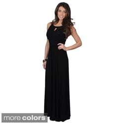 Sangria Women's Ruched Sleeveless Maxi Dress