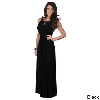 Sangria Women's Ruched Sleeveless Maxi Dress