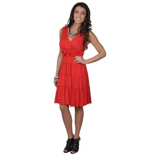 Sangria Women's Tiered Sleeveless Dress