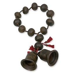 Handcrafted Ceramic 'Achi Bells' Wall Rosary (Guatemala)