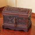 Mohena Wood and Leather 'Inca Domain' Jewelry Box (Peru)