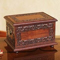 Mohena Wood and Leather 'Andean Elegance' Jewelry Box (Peru)