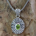 Handcrafted Sterling Silver 'Wild Beauty' Peridot Necklace (Indonesia)