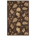 Safavieh Hand-knotted Agra Brown Wool Rug (3' x 5')