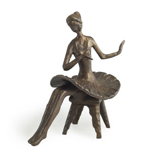 Ballerina Sitting wtih Arms Sideways Bronze Sculpture