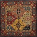 Safavieh Handmade Heritage Majesty Red Wool Rug (6' Square)