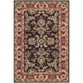 Handmade Heritage Kerman Chocolate Brown/ Red Wool Rug (4' x 6')