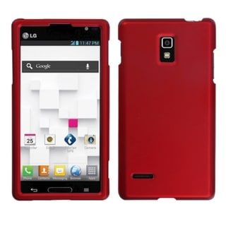 BasAcc Titanium Solid Red Phone Protector Case for LG P769 Optimus L9