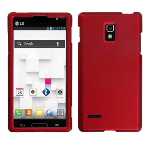 INSTEN Titanium Solid Red Phone Protector Phone Case Cover for LG P769 Optimus L9