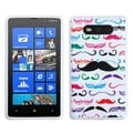 BasAcc Moustaches/ White Candy Skin Case for Nokia 820 Lumia 820