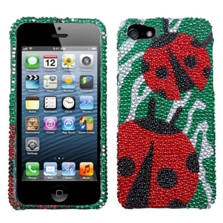 BasAcc Ladybugs Premium Diamante Protector Case for Apple� iPhone 5